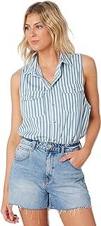 Rollas Women's Womens Sleeveless Stripe Shirt Sleeveless