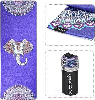 Yoga Towel Mat, Yoga Towel Non Slip for Pilate, Fitness, Yoga Towel Non Slip for Pilate Fitness, 100% Microfiber Hot Yoga ...