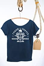 Game of Thrones & Walking Dead CROSSBOW Mashup T Shirt. Slouchy, Off The Shoulder, Sexy Top! Tunic Length Tee Great for Leggings! Plus Sizes Available!