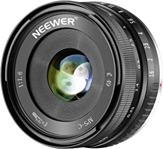 Neewer 32mm F/16 Enfoque Manual Objetivo Principal Afilado Alta Aperturapara Sony E-Mount APS-C Sony A7III A9 NEX 3 3N 5 NEX 5T NEX 5R NEX 6 7 A5000 A5100 A6000 A6100 A6300 A6500