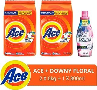 Ace detergente en Polvo 12 Kg + Downy Floral Suavizante de Telas 800 ml