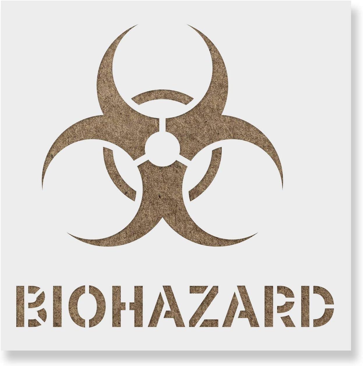 Create DIY Biohazard Symbol Home Decor Reusable Stencils for Painting Biohazard Symbol Stencil
