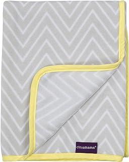 ClevaMama Fleece Blanket Crib Basket - Baby Fleece Blanket 70x90 cm - Grey/White