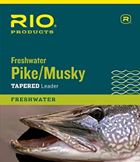 RIO Products Leaders Pike/Musky II 7.5' 30Lb Class 45Lb Stainless Wire with Snap, Clear