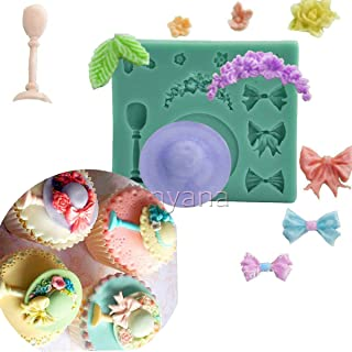 Anyana mini hat Baking Molds ribbon Silicone Fondant molds wine glasses Cake Decorating Tools Gumpaste cupcake topper decorations flower vine resin Clay Chocolate Candy Molds Non stick easy to use