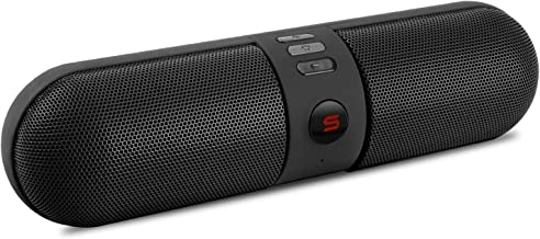 Bluetooth Pill Speakers, Wireless Portable Speakers with Bluetooth HD Stereo Sound & Enhanced Bass 10H Playtime with Built in Mic Handsfree Call TF Card for Outdoor Camping Travel Party (Black 1)