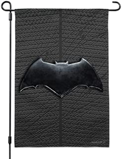 GRAPHICS & MORE Justice League Movie Batman Logo Garden Yard Flag with Pole Stand Holder