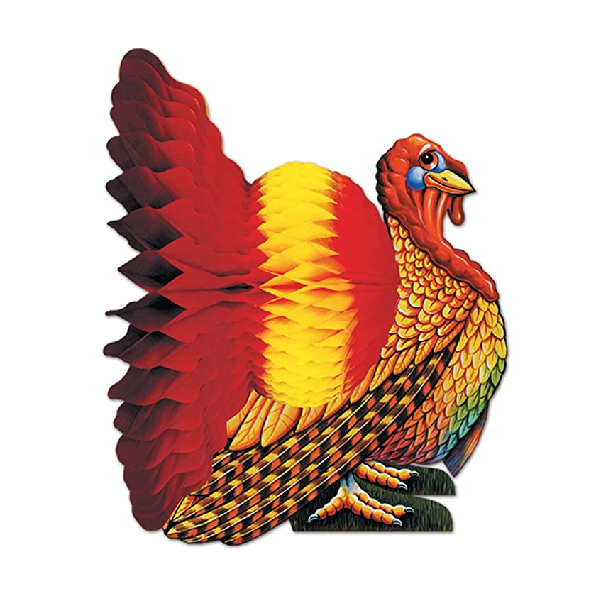 Tissue Turkey Centerpiece Party Accessory (1 count) (1/Pkg)