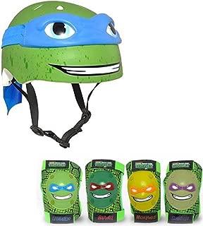 Nickelodeon Teenage Mutant Ninja Turtles Leonardo Kids Bike Helmet and Pads - 5 Piece Set