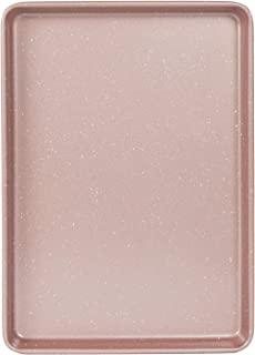 Cook with Color Bakeware Non Stick Baking Sheet, Speckled 10x15 inch Classic Cookie Sheet, Roasting Sheet (Rose Gold)