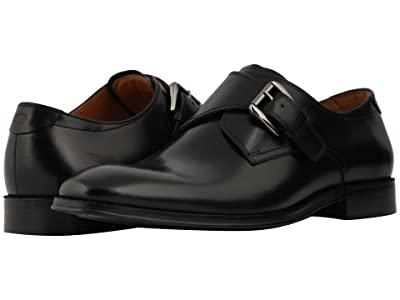 Florsheim Belfast Plain Toe Monk Strap (Black Smooth) Men