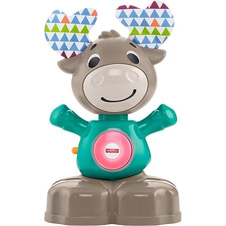 Fisher-Price- Parlamici Baby Alce Dondolina Giocattolo Educativo con Luci, Suoni e Musica per Stimolare Il Bambino, dai 9+ Mesi, Multicolore, GJB17