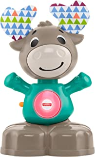 Fisher-Price Linkimals Musical Moose - Juguete educativo interactivo con música y luces para bebés de 9 meses y más