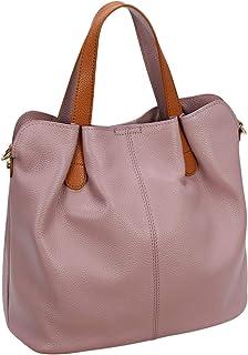 Kenoor Womens Leather Tote Bag Top Handle Bags Shoulder Handbags Ladies Designer Purses Crossbody Bag