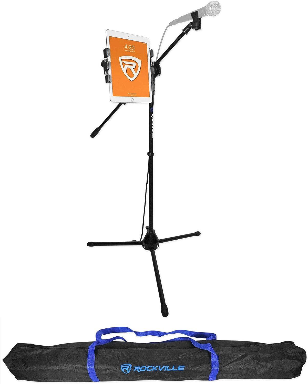 Rockville Tripod Microphone Mic Stand Cl New mail order Boom+Gooseneck w iPad Tucson Mall