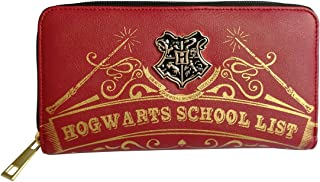 Womens Wallets Compatible for Harry Potter Hogwarts Red Zipper Purse Clutch
