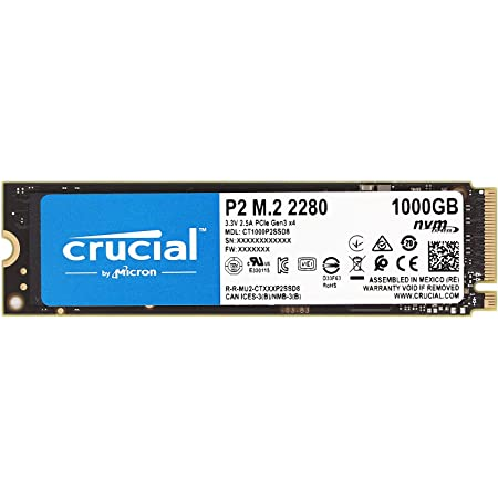 Crucial クルーシャル P2シリーズ 1TB(1000GB) 3D NAND NVMe PCIe M.2 SSD CT1000P2SSD8【5年保証】 [並行輸入品]
