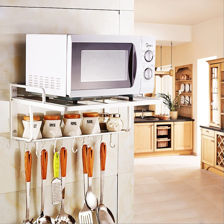 Kitchen Shelf, Wall-mounted Aluminum Microwave Racks, Kitchen Supplies Shelves, Oven Racks ( Size   L55W39H24cm )