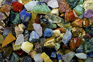 2 Pounds of an Extraordinary Mix of Rough Stones from Around the World Containing Exotic Raw Rocks from Africa, South Amer...