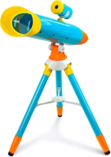 Little Experimenter 2-in-1 Kids Projector + Telescope with Collapsible Tripod - Great Space Exploration Set!