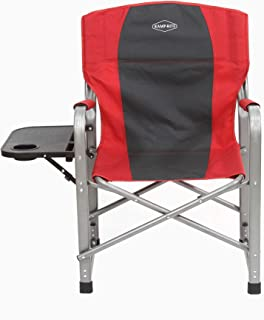 Kamp-Rite Outdoor Camping Tailgating Folding Director's Chair w/Side Table