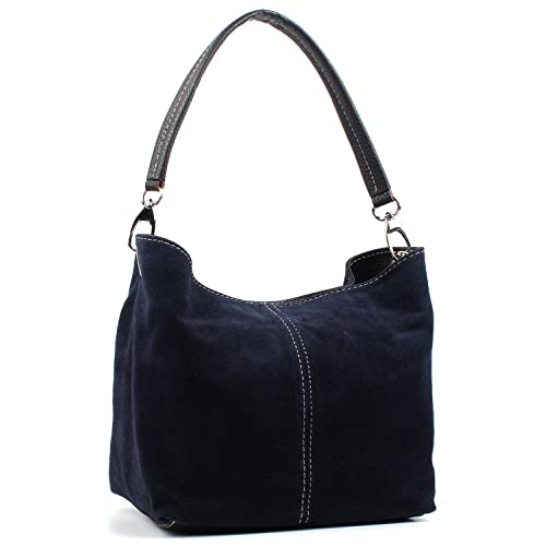 e3a84a678ba0 Aossta Ladies Real Italian Suede Leather Small Shoulder Handbag Tote Bag