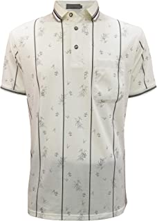 BLOOMMY Polo Shirts for Men-Printed Short Sleeve Golf Shirt