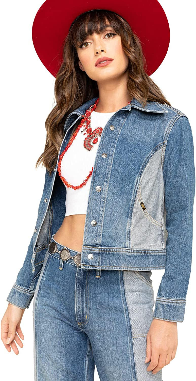 Lee Women's Contrast Denim Seamed Jacket Blue Small