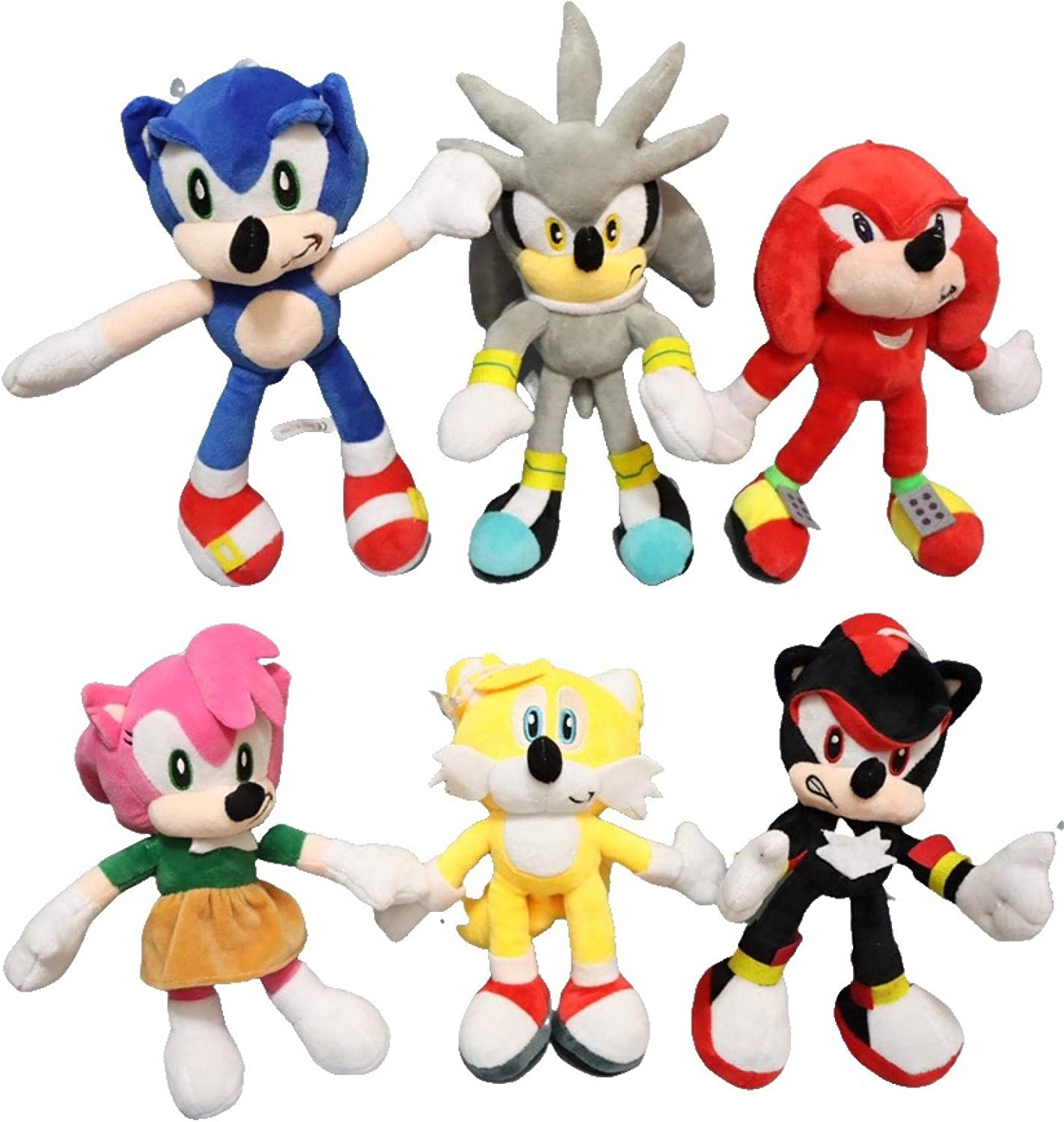 Sonic anime doll 6pcs lot Plush Soni Blue Shadow Sale Special Price Doll Toys Max 88% OFF