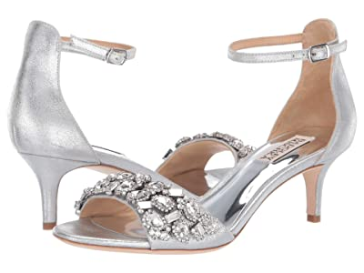 Badgley Mischka Lara II (Silver Metallic Suede) High Heels