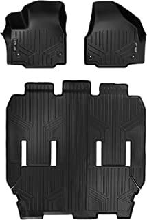 MAXLINER Floor Mats 3 Row Liner Set Black for 2017-2018 Chrysler Pacifica 7 or 8 Passenger Model (No Hybrid Models)