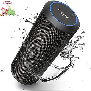 Zamkol Bluetooth Speaker, IPX6 Waterproof Bluetooth Speakers Portable, 360 Degree Sound 24W Enhanced X-Bass, TWS Pairing Wireless Speaker for Beach Travel