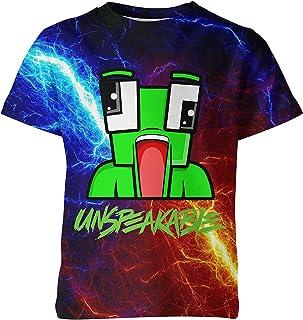 Youth Game Shirts 3D Printed Cartoon T-Shirt Kids Summer Tee Shirt Tops for Boy and Girls