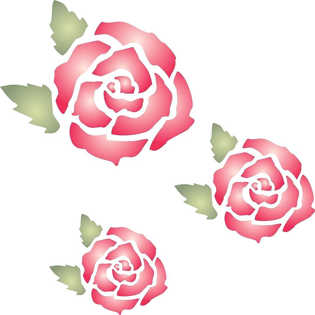 Rose Mural Stencil - (size 10.5