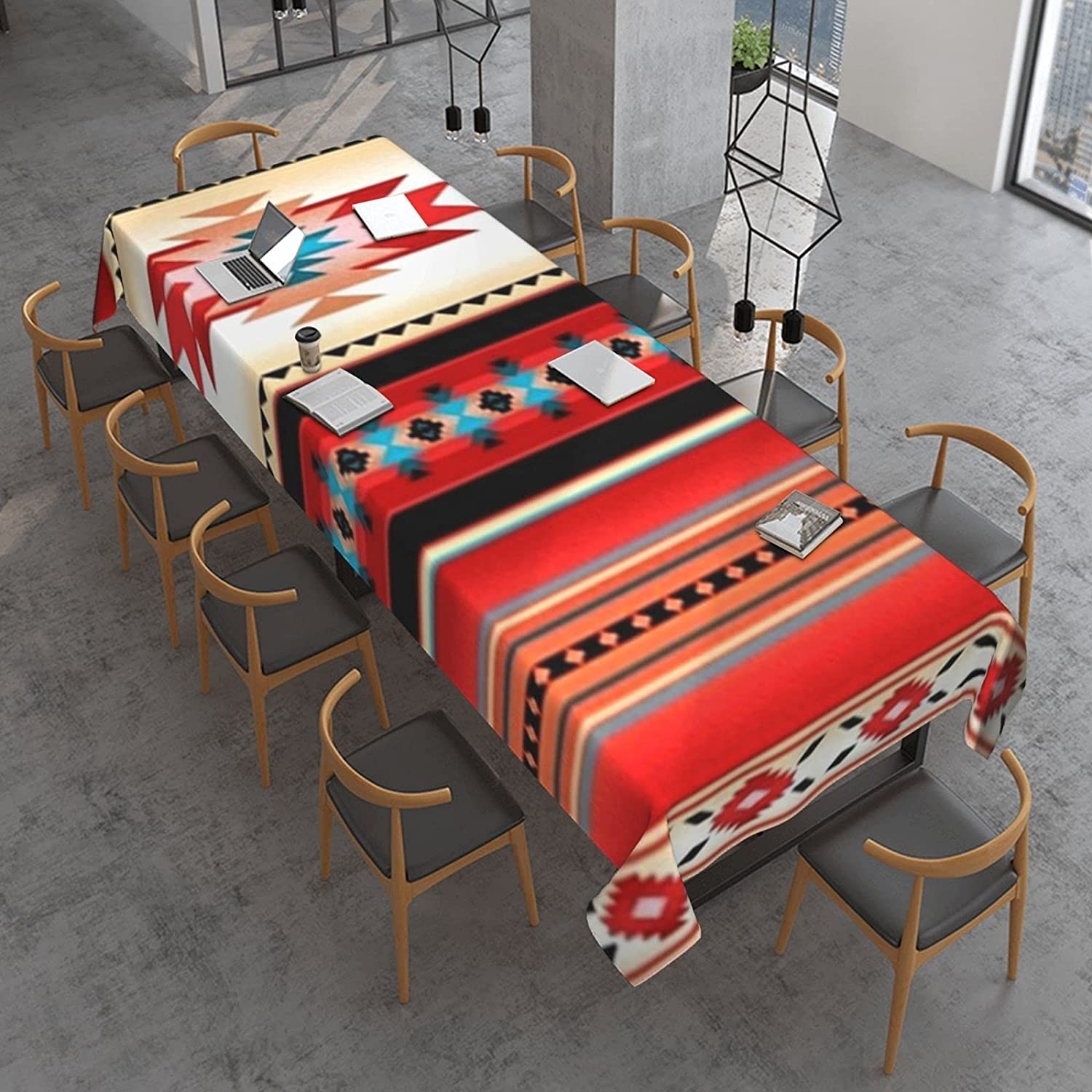 Southwest Max 90% OFF Native American Fixed price for sale Indian Turquoise Stripe Red Tablecloth