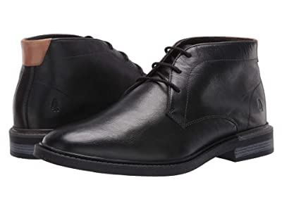 Hush Puppies Davis Chukka Boot (Black Leather) Men