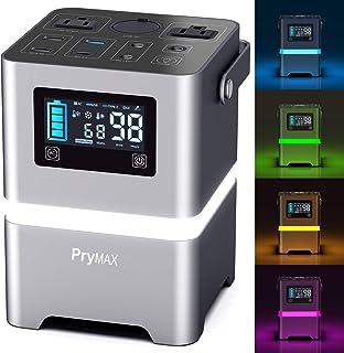 PRYMAX Generador portátil, 231Wh estación de alimentación portátil con visualización táctil y botón de estado de ánimo, 11...