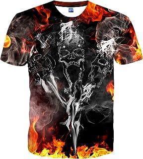 YAJOOEY Unisex Casual 3D Print Short Sleeve T-Shirt Tees