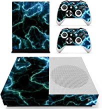 FOTTCZ Whole Body Vinyl Skin Sticker Decal Cover for Microsoft Xbox One Slim Console Blue Lighting