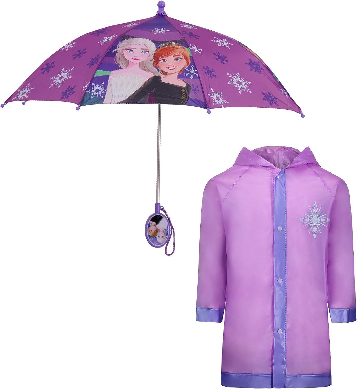 Disney Kids Umbrella and Slicker, Frozen Elsa and Anna Toddler...