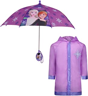 Kids Umbrella and Slicker, Frozen Elsa and Anna Toddler...