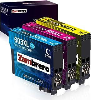 Zambrero 603XL Colore Cartucce Sostituzione per Epson 603 XL 603XL Cartucce per Epson Expression Home XP-2100 XP-2105 XP-3...