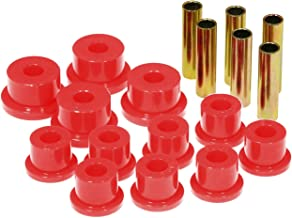 Prothane 17-1002 Red Spring Eye and Aftermarket Shackle Bushing Kit