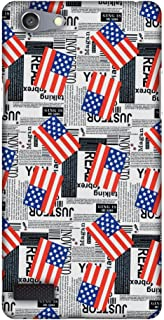 AMZER Slim Fit Handcrafted Designer Printed Snap On Hard Shell Case Back Cover for Oppo Neo 7 - USA Flags HD Color, Ultra Light Back Case