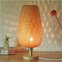 Bureaulamp Bamboe Producten Hand geweven tafellamp slaapkamer nachtkastje tafel lamp dimbare industrie stijl warm nachtlam...