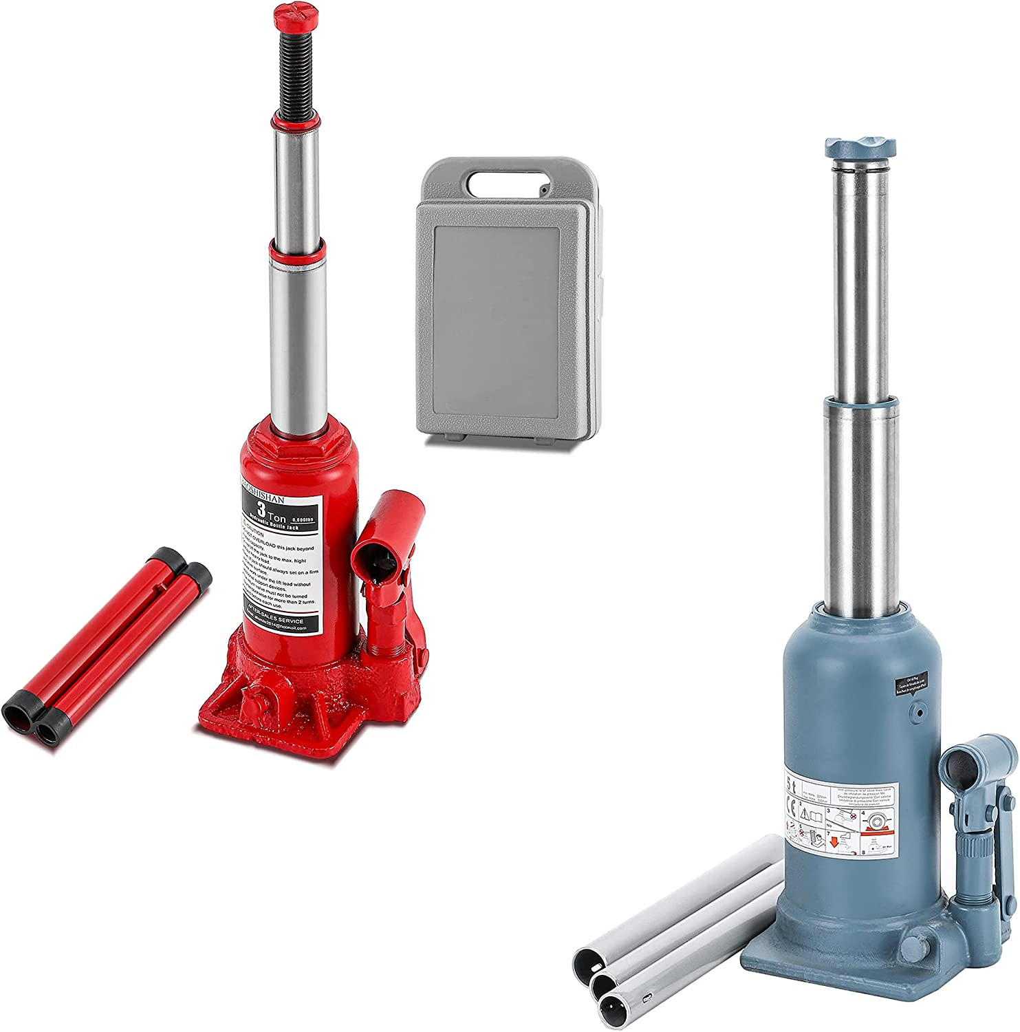BAOSHISHAN 3 Ton Bottle Jack with Case Lift 5 + Max 63% OFF We OFFer at cheap prices High