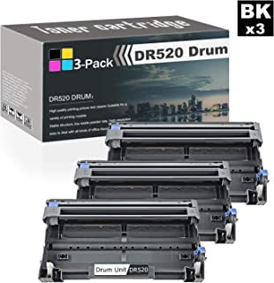 Compatible High Yield (Black,3-Pack) Laser Drum Replacement Cartridges for DR520 Drum Unit to use with Brother HL-5240 5250DN/DNT 5270DN 5280DW 5350DN/DNLT 5370DW/DWT 5380DN Printers Toner.