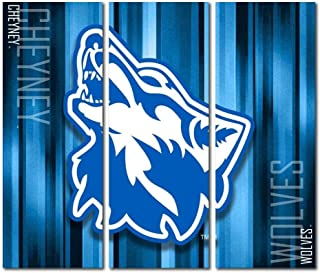 Victory Tailgate Cheyney University of Pennsylvania Wolves Triptych Canvas Wall Art Rush (48x54 inches)