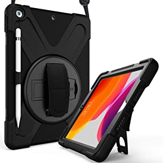 ProCase iPad 10.2 Case 2020 8th Gen / 2019 7th Gen iPad Case, Rugged Heavy Duty Shockproof 360 Degree Rotatable Kickstand ...