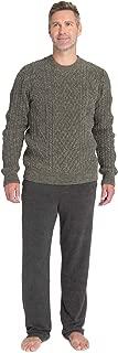 CozyChic Men's Aran Pullover, Light Sweater, Knitted Pattern